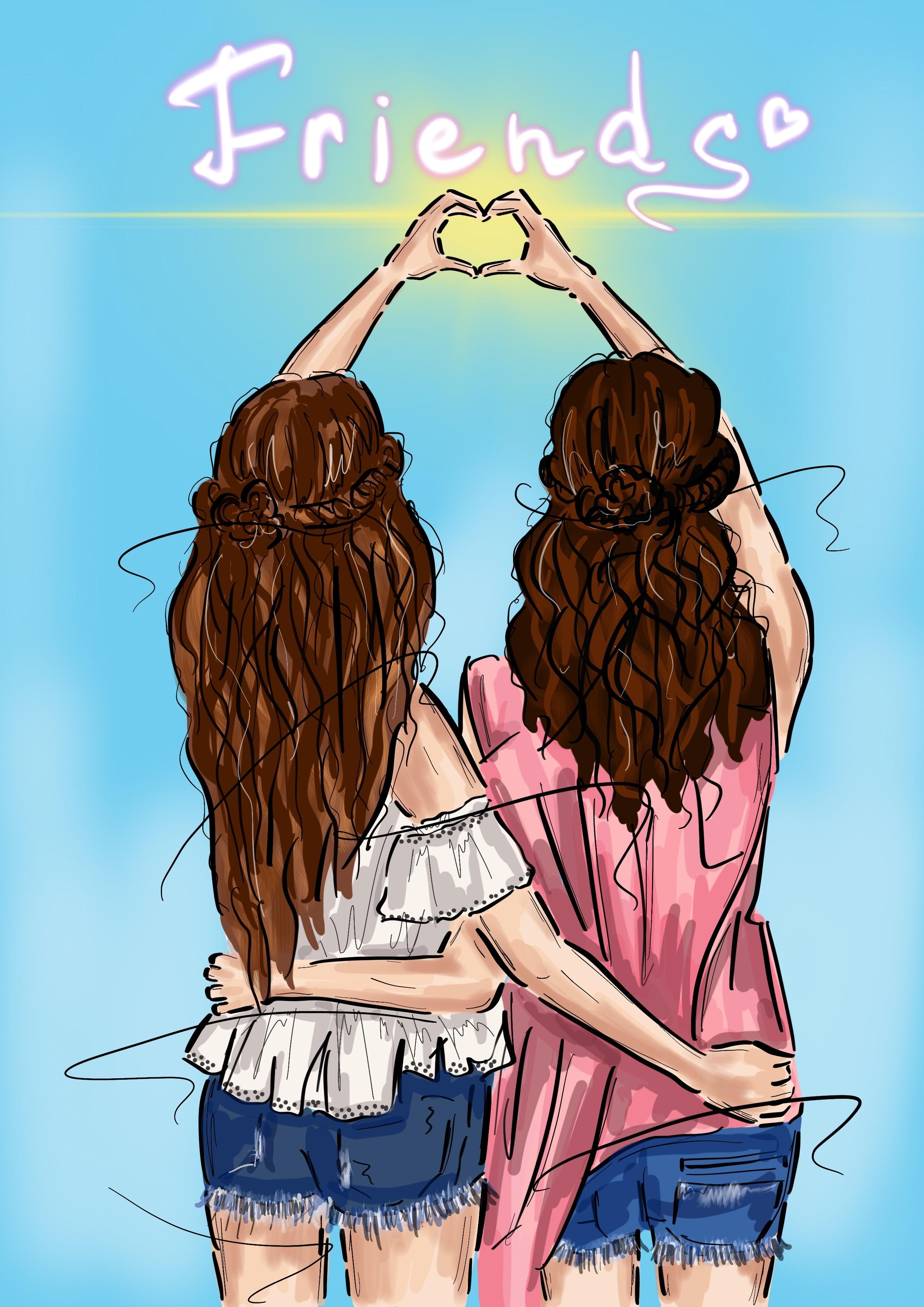 Картинка о любви к подруге от подруги