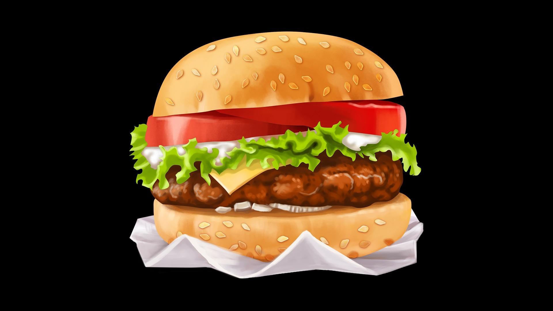 нескольких видов, картинка про гамбургер никто